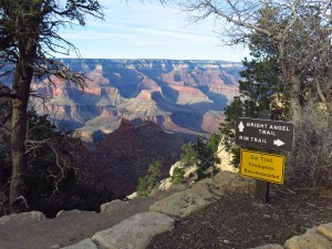 Start of Bright Angel Trail