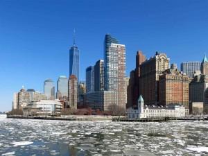 Lower Manhattan from New York Harbor