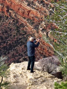 The Author Shooting the Grand Canyon