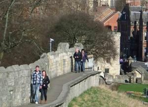 Walking around York's Roman/Medieval Walls