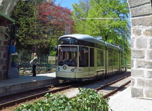 Pöstlingberg Tram at the Summit Station