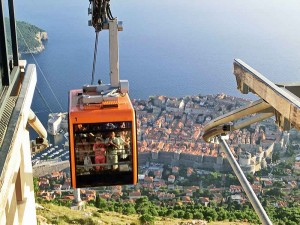 Cable Car Soars Above the Old Town