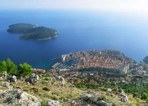 Lokrum Island and the Old Town from the Srd Hill
