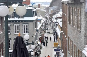 Quebec - Looking Down Petit Champlain
