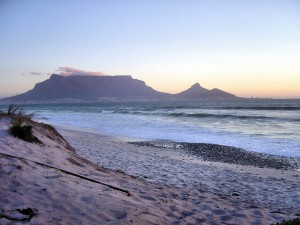 On the bottom tip of Africa, beneath Table Mountain