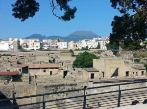 Herculaneum: Overlooked by Modern Houses and Vesuvius