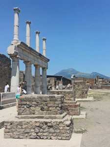 Stark Ruins of the Forum Overlooked by Vesuvius