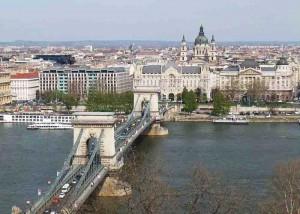 The Chain Bridge and St Stephen's Basilica