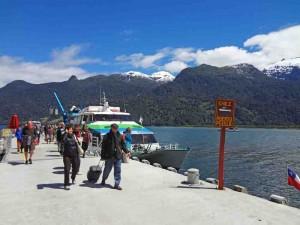 Andes: Disembarking at Puerta Peulla