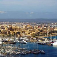 Mallorca: View over Palma from Castell de Bellver