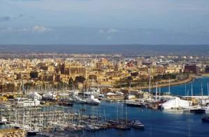 Mallorca: View over Palma from Castell de Bellver
