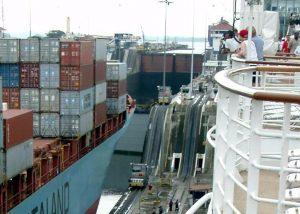 Double-laned Locks on the Panama Canal