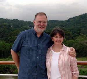 The author and husband on Panama Canal