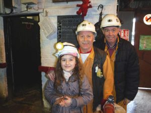 Guided tour with former miners