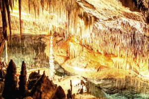 Stalactites and stalagmites of all colours and shapes