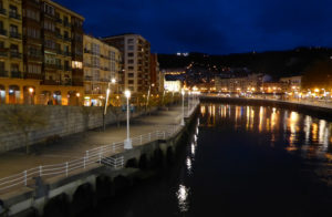 River Nervión near the Old Quarter of Bilbao