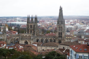 Cathedral of St Mary from the Castle of Burgos