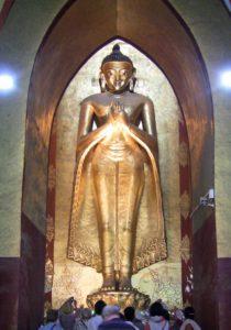 """A """"teaching"""" Kassapa Buddha at Ananda Temple"""