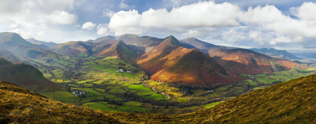 View from Cat Bells summit in the Lake District