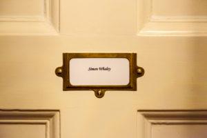 My name on the School Room bedroom door