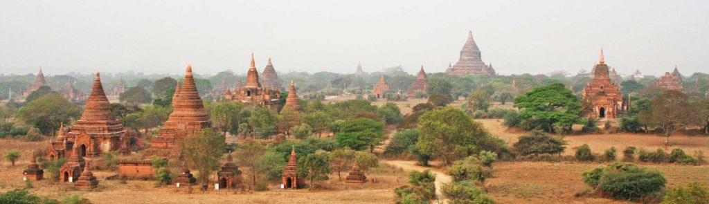 Temples on the plains of Bagan Panorama