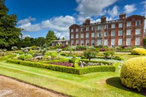 Gardens and house at Weston Park