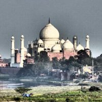 The Taj Mahal from Agra Fort