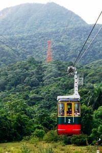 Cable car to mountain at Puerto Plata