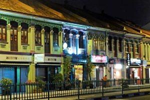 Shops and restaurants on East Coast Road