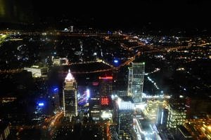View from Taipei 101 tower