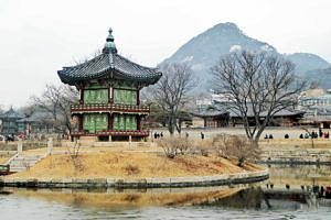 Hyangwonjeong Pavilion in the Gyeongbokgung Palace