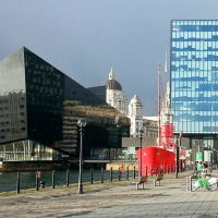 Liverpool: New and old architecture by the waterfront