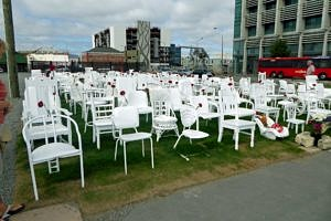 Earthquake memorial in Christchurch