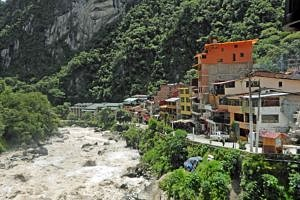 Aguas Calientes overlooking the Urubamba River