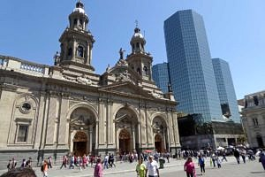Metropolitan Cathedral and Edifico in Plaza de Armas