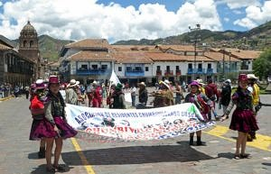 Sunday Parade in the Plaza de Armas