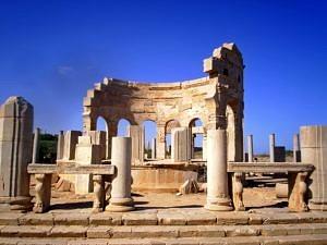 Leptis Magna Roman site in Libya