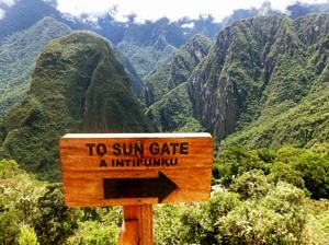 Sun Gate entrance to Machu Picchu