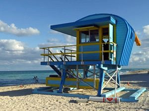 Lifeguard Tower on Miami Beach