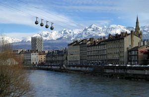 Cable-car in Grenoble
