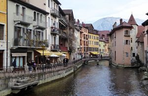 River Thiou in Annecy
