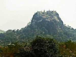 Mount Popa in Bagan