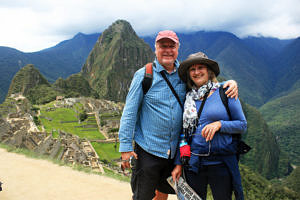 Andrew and Maddie at Machu Picchu