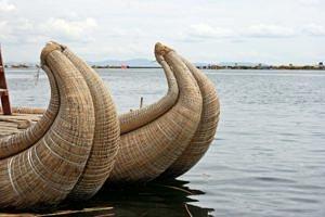 Boats on Lake Titicaca