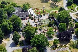 Central part of Westfalenpark from the Tower