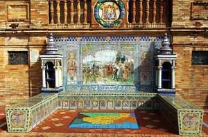 Ceramic niche in Plaza de España