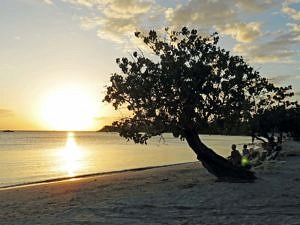 Sublime sunset at Negril, Jamaica