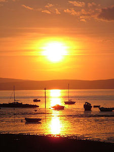Sunset over Morecambe Bay