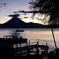 Lake Atitlan, Guatemala: Dark, glittering pool of water