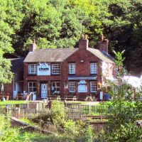 Black Lion pub in the wilds of Staffordshire